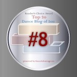 I Came in 8th in the Top Dance Blog 2011 Contest!