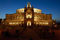 Semperoper Ballett performs in this opera house in Dresden, Germany.