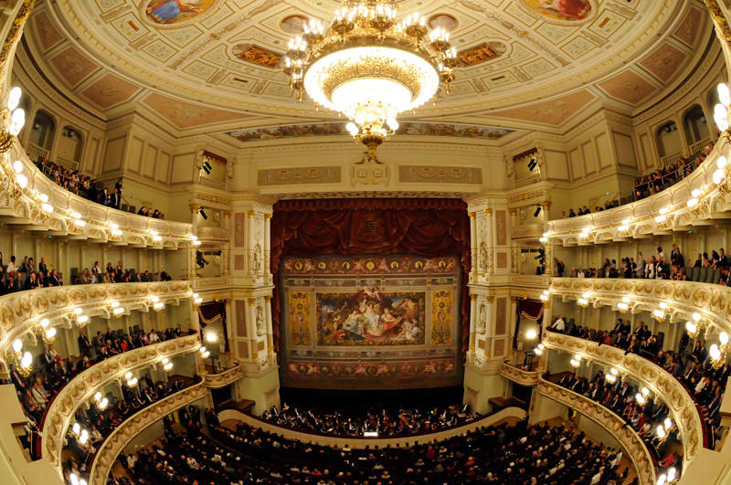 View of Semperoper stage