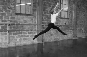 John Max in the studio at Centralia Ballet Academy.