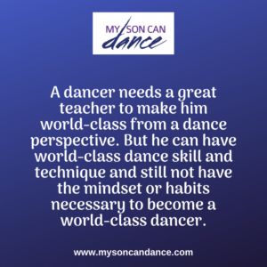 dancers need more than good teachers